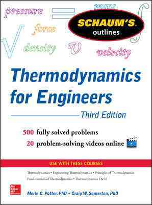 Schaum's Outline of Thermodynamics for Engineers By Potter, Merle/ Somerton, Craig W.
